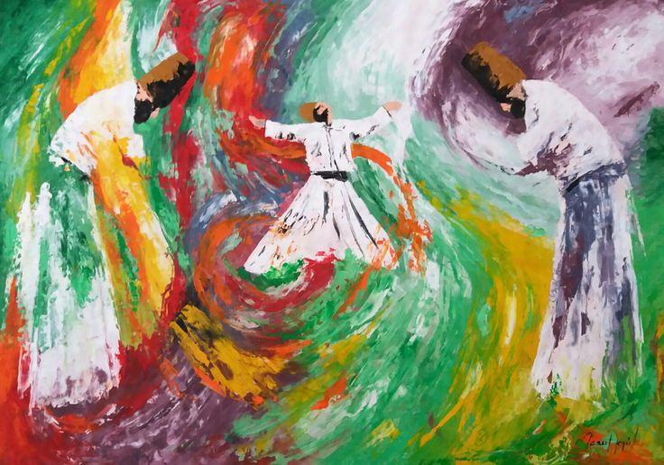 Boyut / Extent by Mesut Kırmızıgül Tuval üzerine #Yağlıboya / #Oiloncanvas 100cm x 70cm 2.500₺ / 700$  #gallerymak #yagliboya #ig_sanat #sanat #resim #tablo #mevlana #müzik #semazen #enstrüman #din #osmanlı #felsefe #art #instaart #painting #oilpainting #music #ottoman #islam #artlover #artgallery #artsy #artbasel #masterpiece #love #contemporarypainting