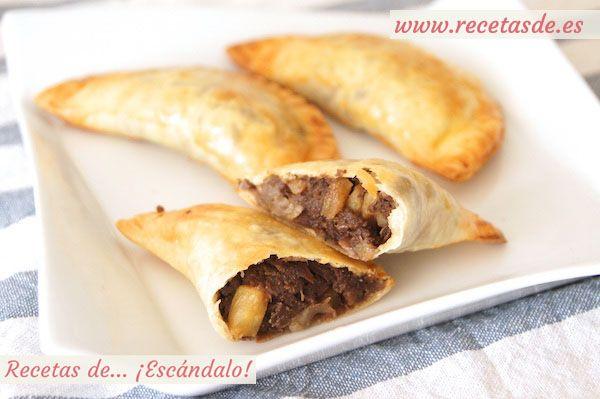 Empanadillas de morcilla y manzana con Pedro Ximénez. Se original y prepara estas deliciosas empanadillas. Además están hechas al horno, por lo que se convierten en un aperitivo ligero y delicioso :)