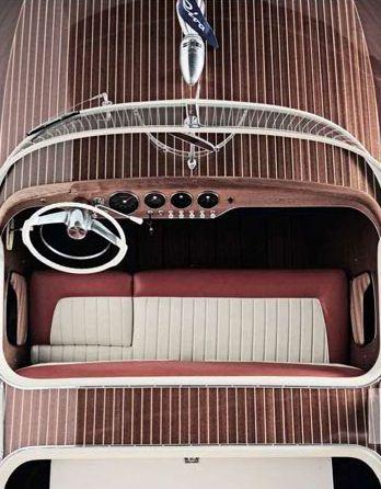 Riva cockpit. Everyone deserves a speedboat.