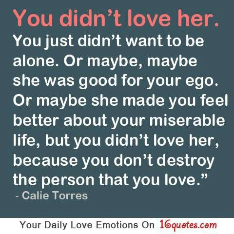 You really didn't. ..
