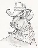 Funny Cow - pencil sketch