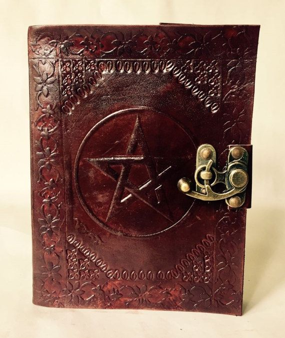 Leather Journal // Pentagram Journal // Blank Leather-Bound