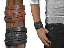 Gravur 65 cm Lederarmband | Graviertes Armband