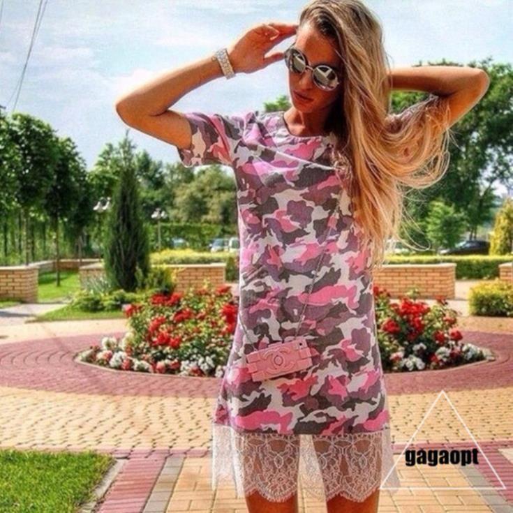 Дешевое 2014 Gagaopt женщины красочные камуфляж шею тонкий женский девушки платья, Купить Качество Платья непосредственно из китайских фирмах-поставщиках:                             Уважаемые клиенты,                                                                 Спасибо з