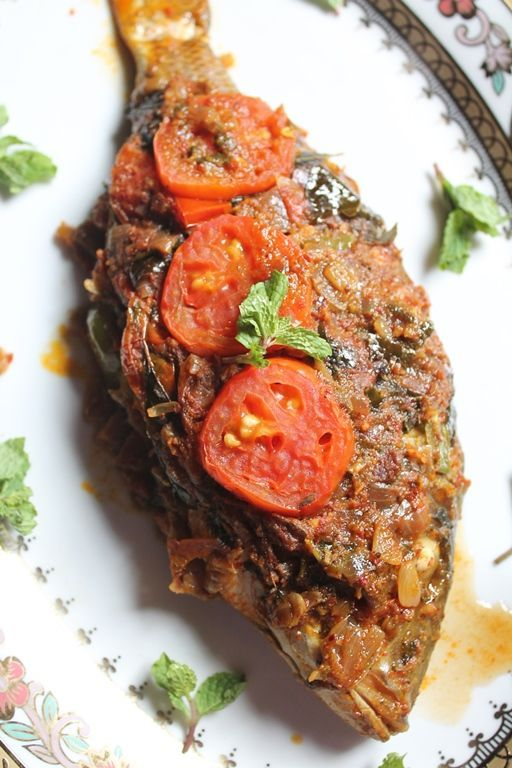 Indian Baked Whole Fish Recipe / Baked Masala Fish Recipe
