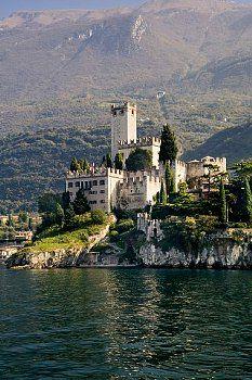 Italy, Veneto, Malcesine with Castello Scaliger