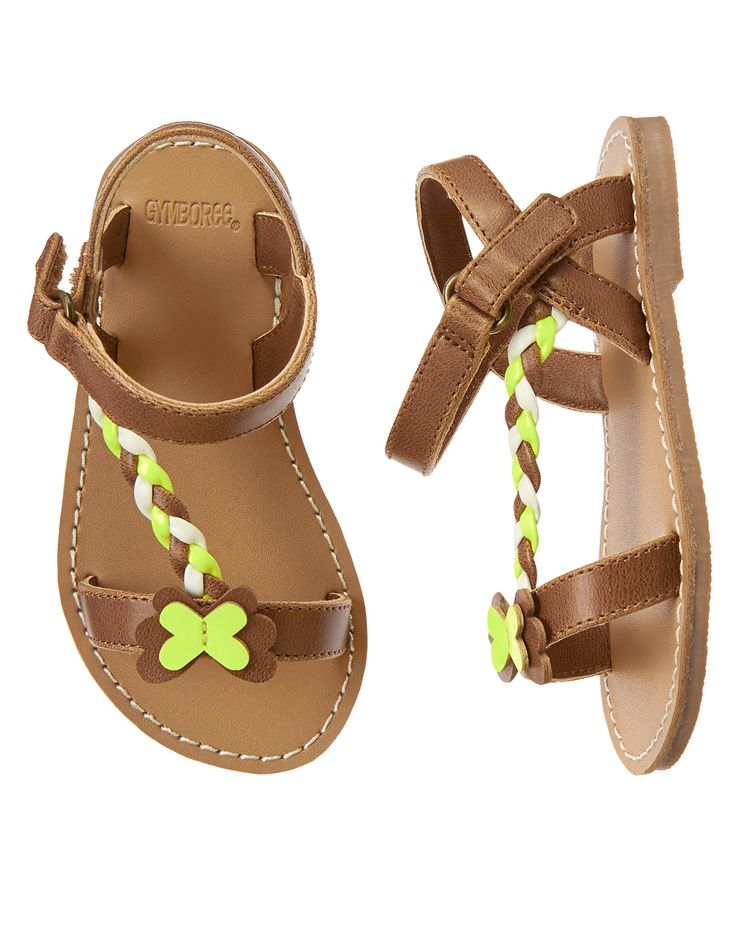 Butterfly Braided Sandals (Gymboree 6m-5T)