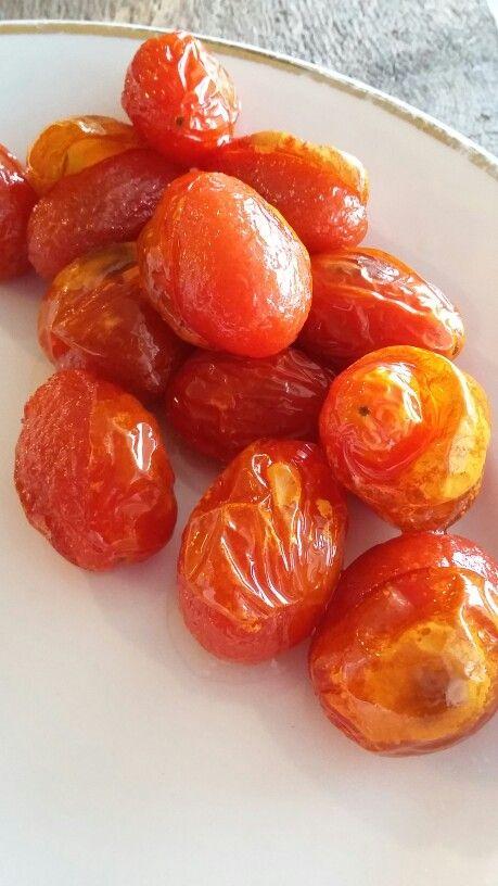 Friterade tomater.