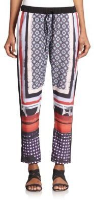 Clover Canyon Printed Drawstring Pants - Shop for women's Pants - MULTI Pants