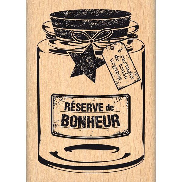 Tampon Réserve de Bonheur chez Florilèges Design.