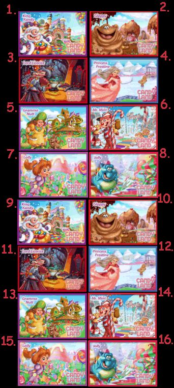 Candyland Characters Pictures And Names