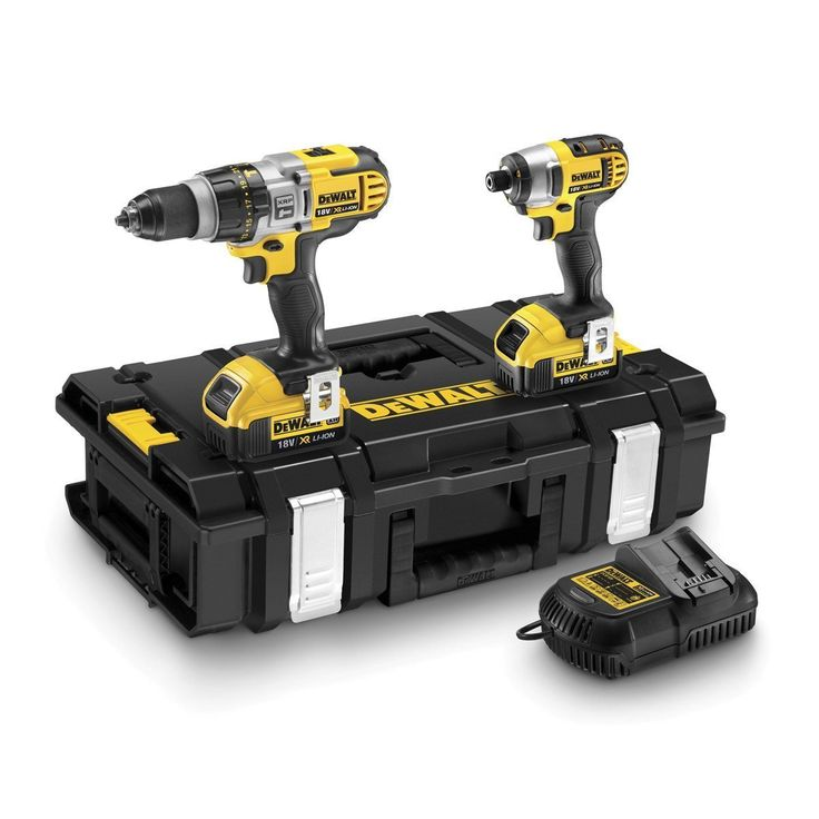 DeWalt 18V XR Lithium-Ion Combi Drill and Impact Driver with 2 x 4Ah Batteries (  #su #men #ring #ec #s £254.80 #organic #natural #ecofriendly #sustainaable #sustainthefuture
