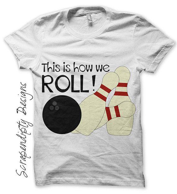 Bowling Iron on Shirt PDF - Sports Iron on Transfer / Kids Toddler Bowling Party Tshirt / Mens Bowlers Shirt / Bowling Shirt Design IT186-C