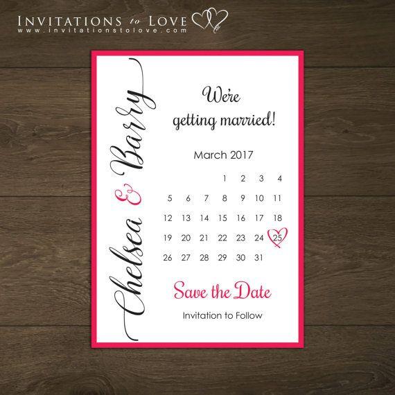 Printable Save the Date Custom Digital Save by InvitationsToLove