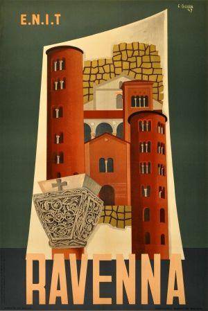 Ravenna ENIT Italy - AntikBar [ #ravenna #myRavenna #illustrator #vintage #posters]