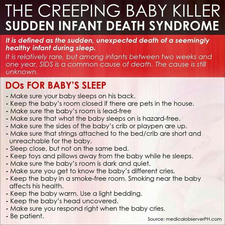 Sudden Infant Death Syndrome SIDS - the Webs most
