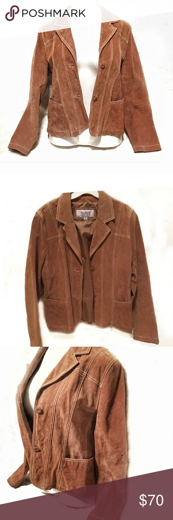 🔥SALE🔥 Wilson's Leather Maxima tan jacket Authentic vintage brown leather jacket from Wilson's Leather Maxima  Size Large - true to size  Great condition!! No damage to jacket.  Motorcycle style  MSRP $175 Wilsons Leather Jackets & Coats Capes