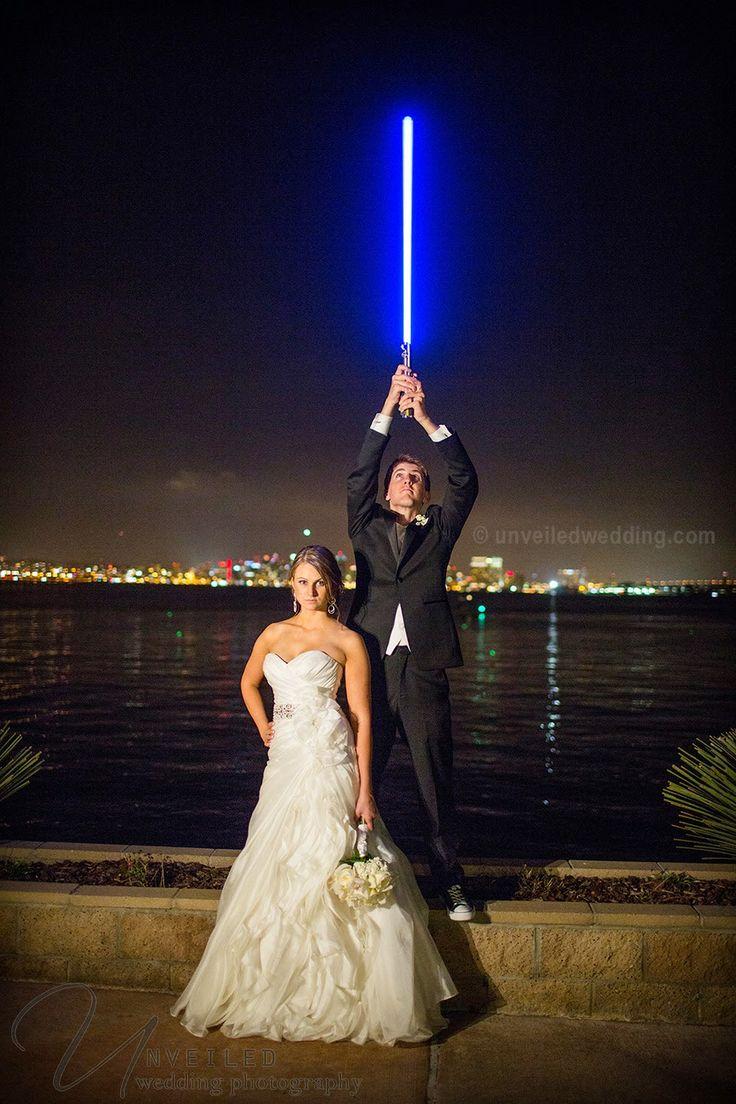 Star Wars wedding photo!