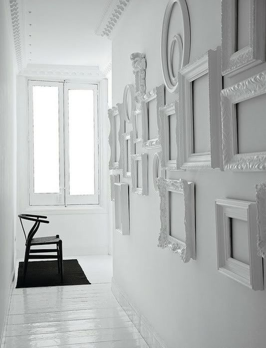 White baroque frames