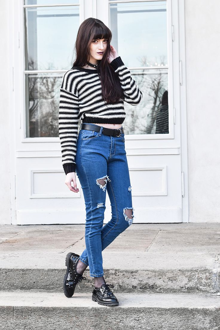 Crop sweater by Milkwoman #milkwoman #modino_style #sweater #style #fashion #outfit #casual