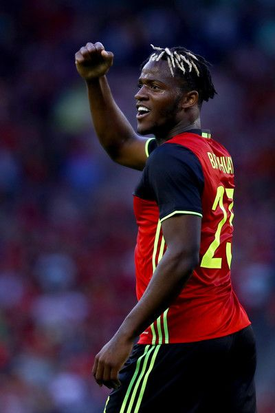 Michy Batshuayi of Belgium celebrates scoring his teams first goal of the game with during the International Friendly match between Belgium and Czech Republic at Stade Roi Baudouis on June 5, 2017 in Brussels, Belgium.