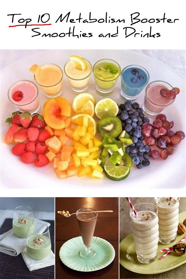 APW:Give your metabolism a boost, while bringing a satisfied smile to your face. Ten of the best smoothie recipes will have you pulling out the blender to encourage your body to burn fat quicker by boosting your metabolic rate. Pin and share if you like it!