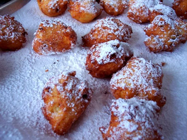 Ricotta Fritters.   Awesome, crowd-pleasing dessert.