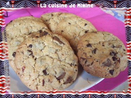 Cookies US de la mort qui tuent !!! Trop bon quoi ! - La cuisine de Mimine
