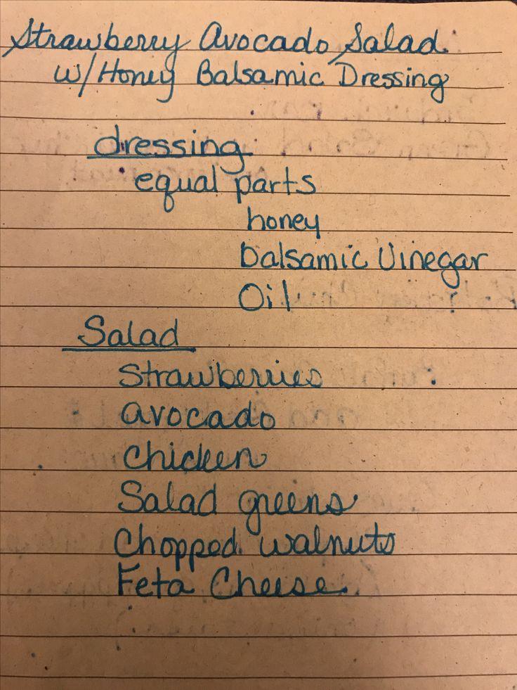 Strawberry Avocado Salad  With Honey balsamic dressing