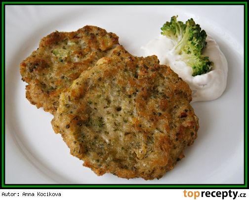 brokolicovo-chlebové placky