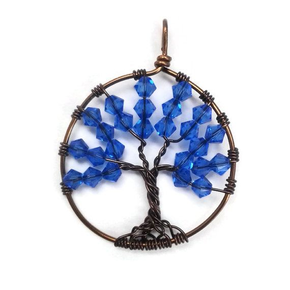 September Birthstone Colored Tree Of Life by ForgetTheClasp