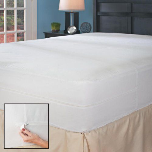 california king bed bug mattress cover with autolocking microzipper enclosure by