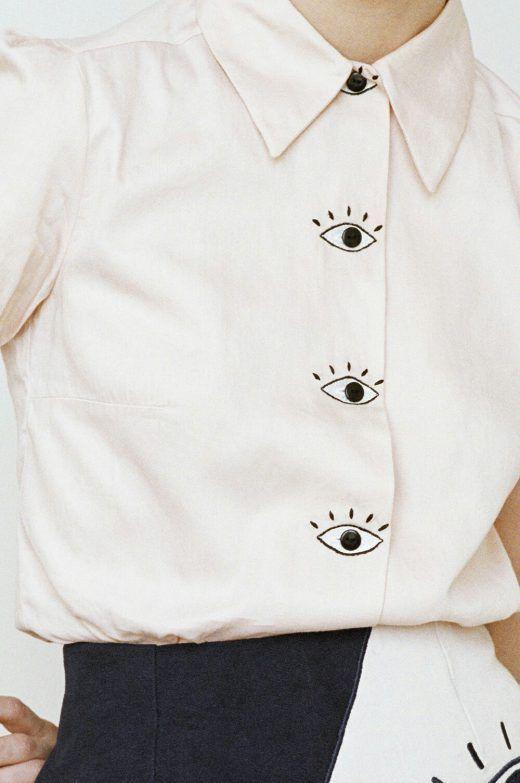 HKM NYC Barons Eyes Blouse ADDICTEDTODIY