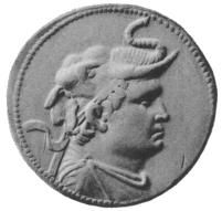 The Greco-Bactrian king Demetrius (reigned c. 200–180 BC), wearing an elephant scalp, took over Alexander's legacy in the east by again inva...