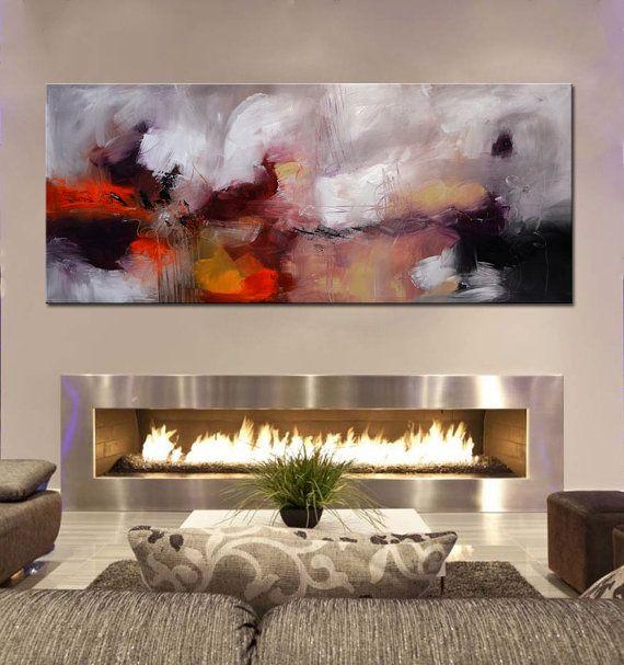 Pittura stampa astratta pittura moderna viola grande di BuyWallArt