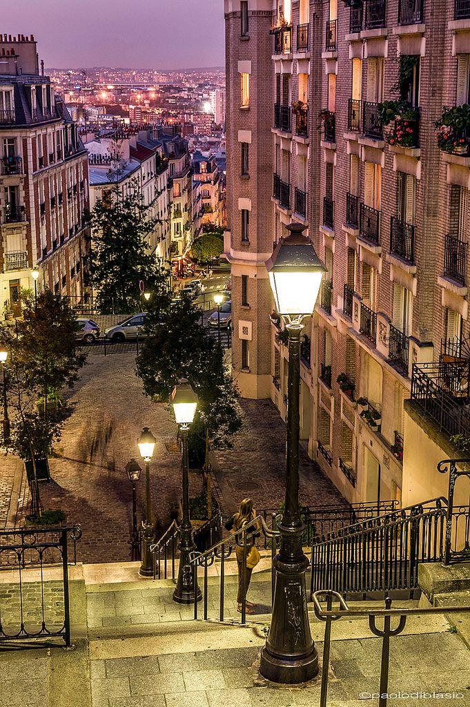 """Montmartre Stairway"" by Victor / Paolo Di Blasio on Flickr ~ Montmartre Stairway, Paris"