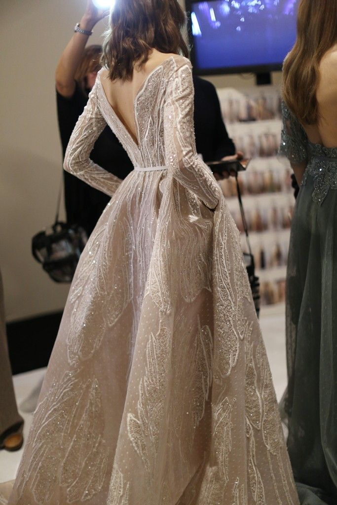 Backstage at Elie Saab Couture Spring 2015 [Photo by Delphine Achard]