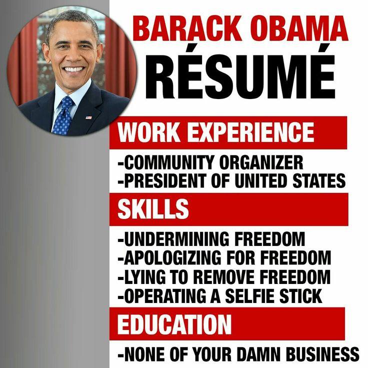 543 best Obama NEARLY Destroyed the USA images on Pinterest - barack obama resume