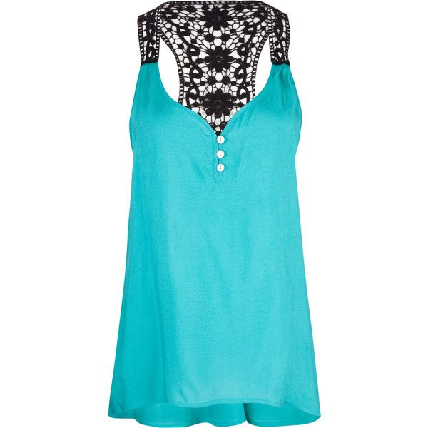 FULL TILT Crochet Back Womens Tank (20 CAD) ❤ liked on Polyvore featuring tops, shirts, tank tops, blusas, tanks, women, tanks & camis, crochet tank top, camisoles & tank tops and racer back tank top