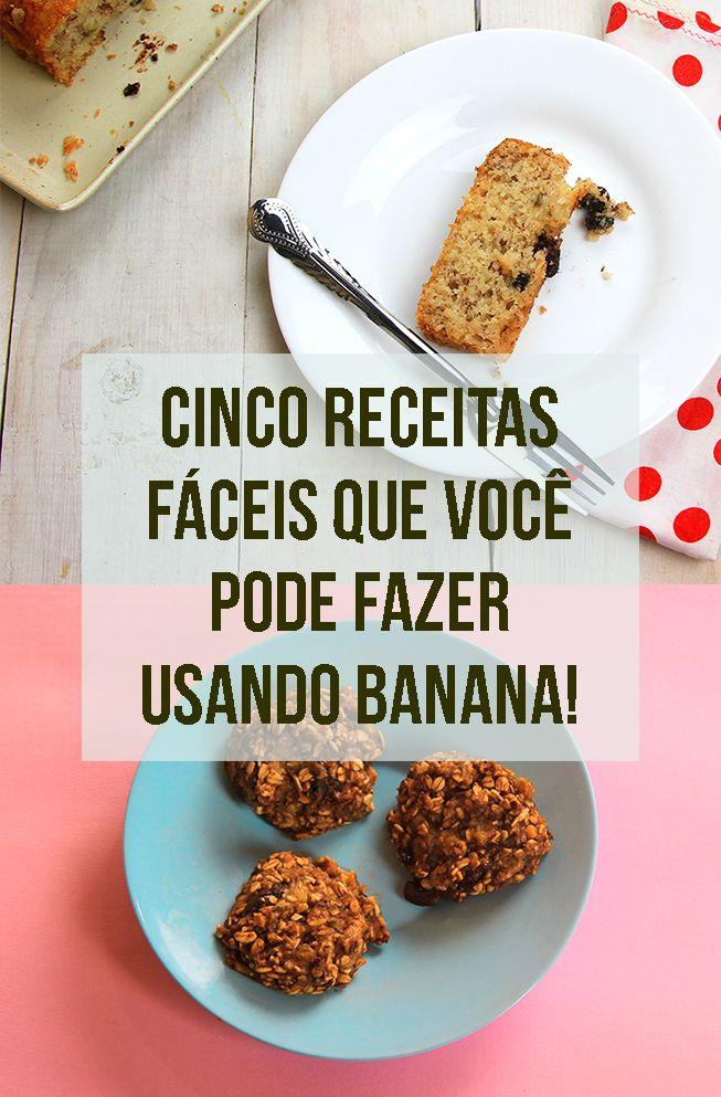 """Banana bem madura, quase """"perdendo""""? Vem ver um monte de receita para aproveitar! // Receitas vegetarianas usando bananas, saudáveis e deliciosas! :-) // palavras-chave: receita, passo a passo, ideia, tutorial, gastronomia, cozinha, banana, fruta, sorvete de banana, chocolate, bolo de banana, biscoito de banana, cookie, truque, banana madura,"""