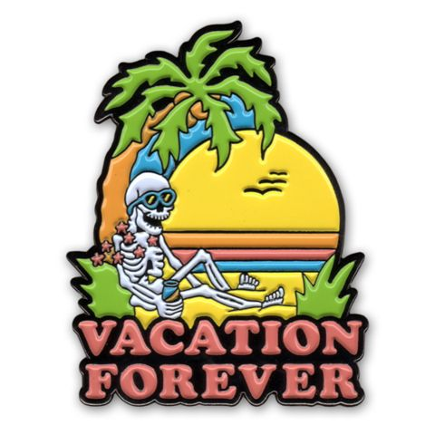 Night Watch Studios - VACATION FOREVER Lapel Pin