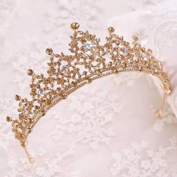 Wedding Tiaras Brides Hair Accessories Rhinestone Crystal Birthday Crown Jewelry