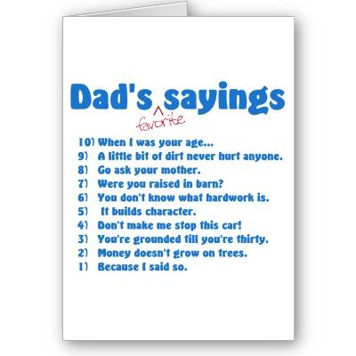 funny father's day card sayings from son