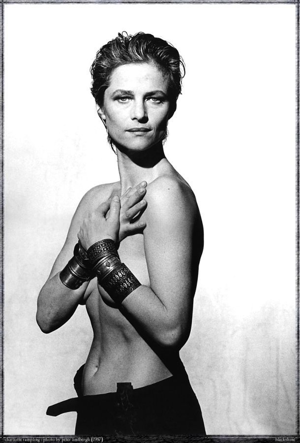 Charlotte Rampling (1946) - English actress. Photo Peter Lindbergh, 1987
