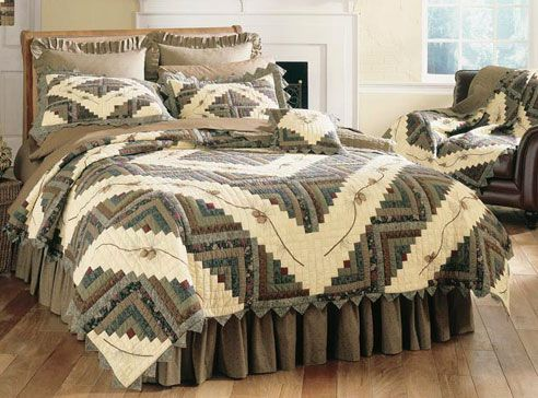 Barn Raising Pine Cone by Donna Sharp Quilts - BeddingSuperStore.com