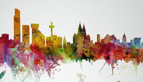 Liverpool skyline print - artPause - Crumbs and Petals - I love the London one and the World Map!