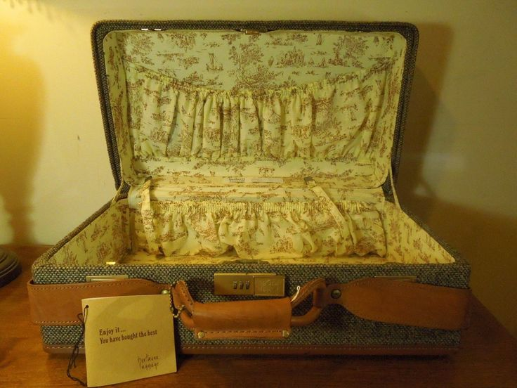 Vintage Hartmann Luggage 747 Carry On Suitcase Tweed And