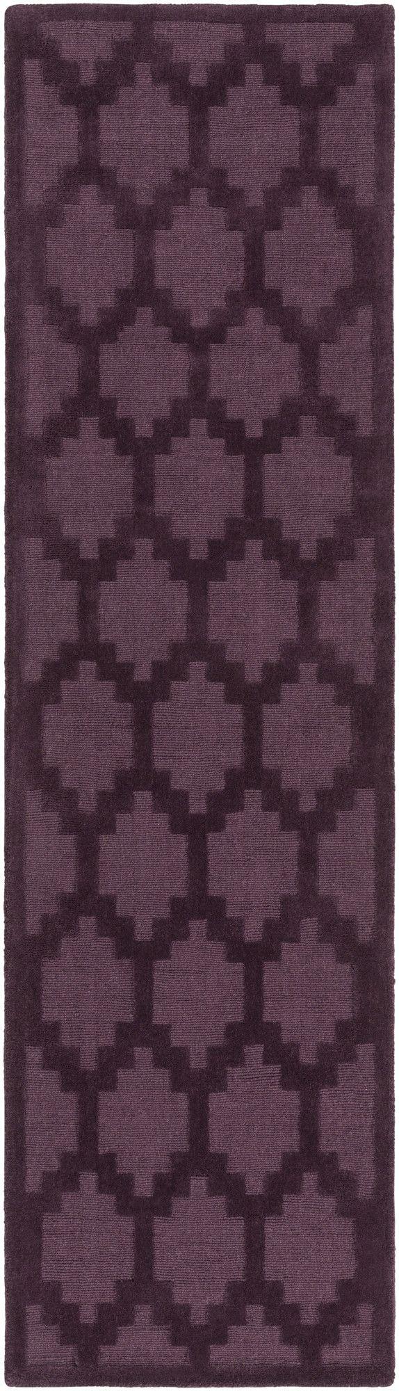 Metro Riley Hand-Loomed Purple Area Rug