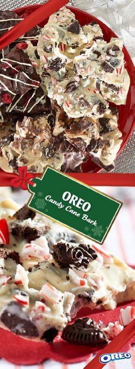 Tis' the season to unwrap the merry taste of OREO Candy Cane Bark. Makes a wonderful holiday gift and is a great addition to any cookie exchange.