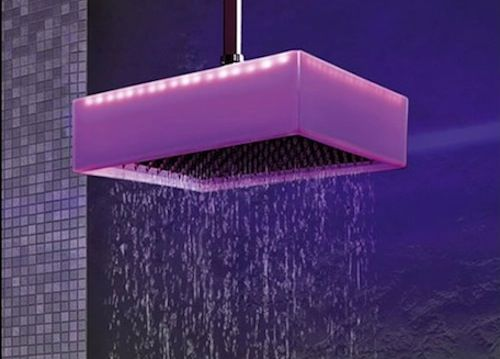 Calore Ceiling Mounted Chromotherapy Shower by Ponsi